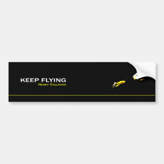 Adhesive Keep Flying Bumper Sticker