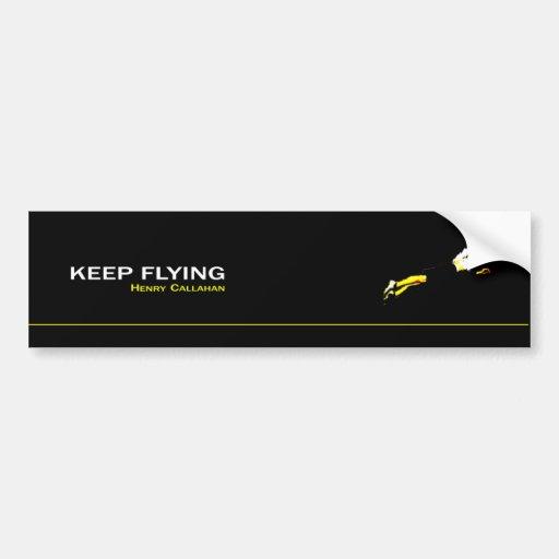 Adhesive Keep Flying Bumper Sticker
