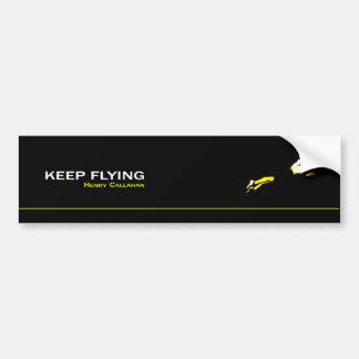 Adhesive Keep Flying Car Bumper Sticker