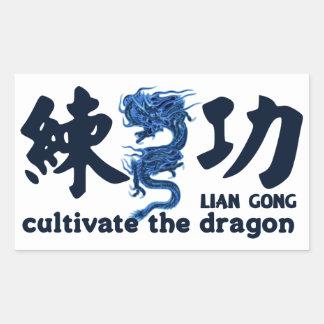 Adhesive Lian Gong Rectangular Sticker
