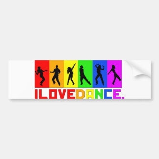 "Adhesive of for-shock ""I love dances "" Bumper Sticker"