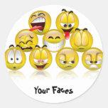 adhesive smiles adesivo em formato redondo