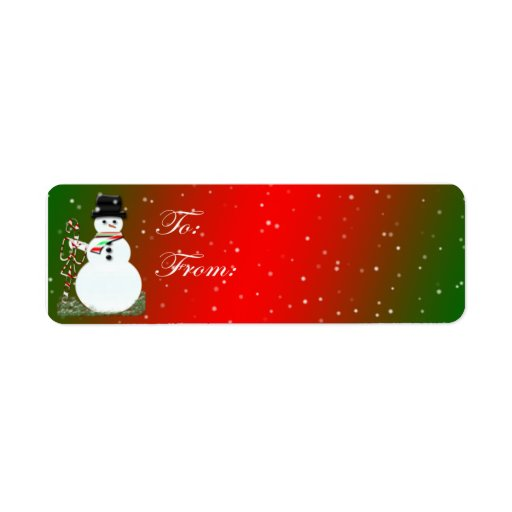 Adhesive Snowman Gift Tags Return Address Labels