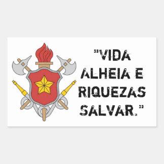 Adhesive symbol Firemen with motto Rectangular Sticker