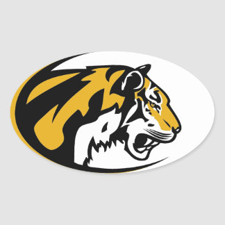 "Adhesive ""Tiger "" Oval Sticker"