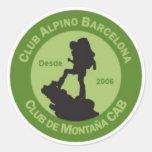 Adhesivos Club Alpino Barcelona Etiquetas