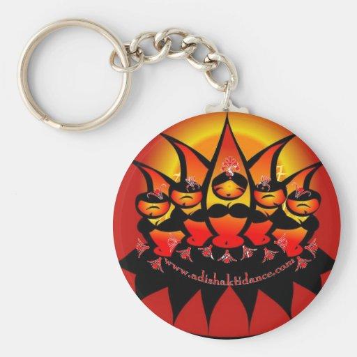 Adi' Shakti Dance Basic Round Button Keychain