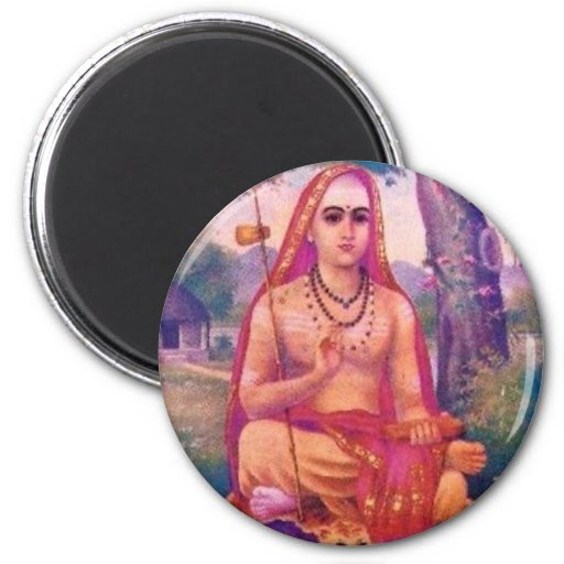 Adi Shankara 2 Inch Round Magnet