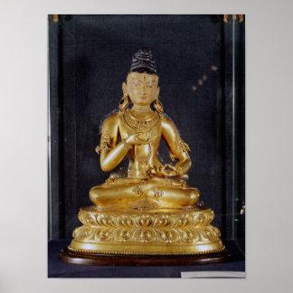 Adibuddha Vajrasattva asentado en la meditación Posters