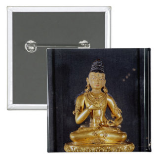 Adibuddha Vajrasattva seated in meditation 2 Inch Square Button