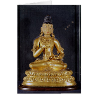 Adibuddha Vajrasattva seated in meditation Card
