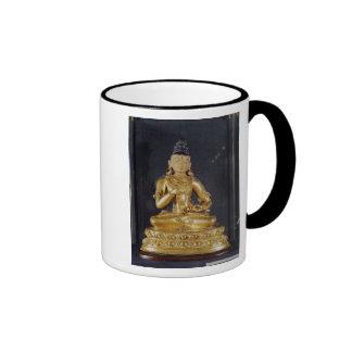 Adibuddha Vajrasattva seated in meditation Ringer Coffee Mug