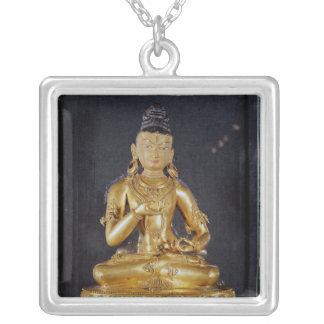 Adibuddha Vajrasattva seated in meditation Personalized Necklace