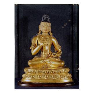 Adibuddha Vajrasattva seated in meditation Postcard