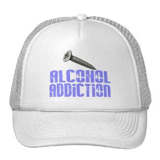 Adicción al alcohol del tornillo azul clara gorro