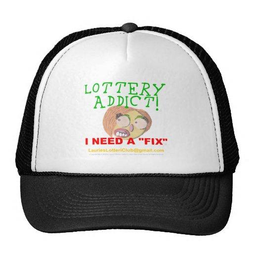 Adicto 0002 a la lotería gorros