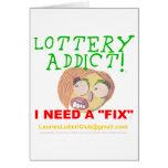 Adicto 0002 a la lotería tarjetas