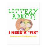 Adicto 0002 a la lotería tarjetas postales