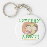 Adicto 002c a la lotería llavero