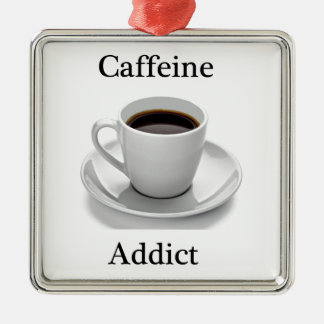 Adicto a cafeína adornos de navidad