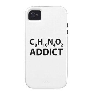 Adicto a cafeína iPhone 4/4S carcasas
