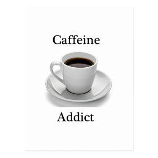 Adicto a cafeína postales