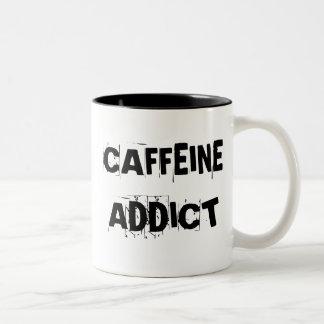 ADICTO A CAFEÍNA TAZA DE DOS TONOS