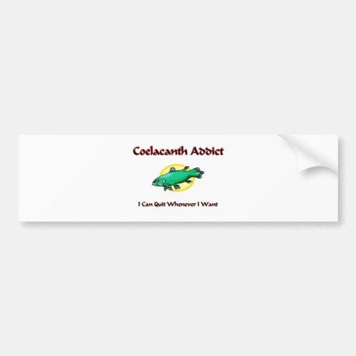 Adicto a Coelacanth Pegatina De Parachoque