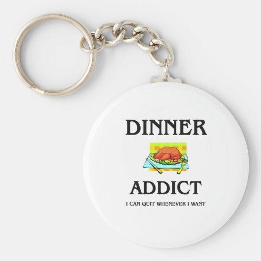 Adicto a la cena llavero
