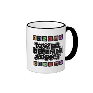 Adicto a la defensa de la torre tazas de café