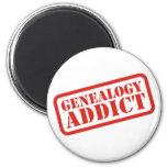 Adicto a la genealogía imán para frigorífico