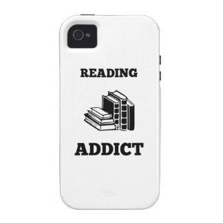Adicto a la lectura vibe iPhone 4 funda