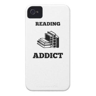 Adicto a la lectura iPhone 4 cárcasa
