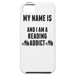 Adicto a la lectura iPhone 5 fundas
