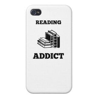 Adicto a la lectura iPhone 4 fundas