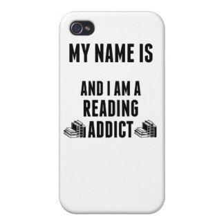 Adicto a la lectura iPhone 4 carcasas