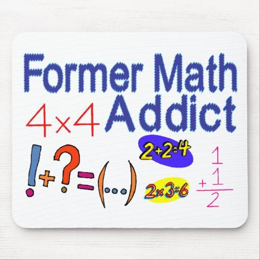 Adicto a la matemáticas alfombrilla de raton
