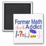 Adicto a la matemáticas imán para frigorifico
