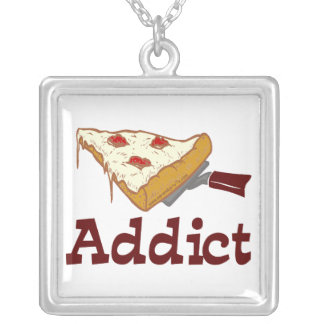 Adicto a la pizza collar personalizado