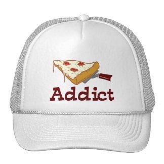 Adicto a la pizza gorros