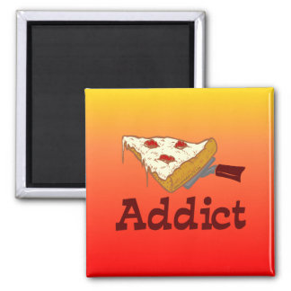 Adicto a la pizza iman para frigorífico
