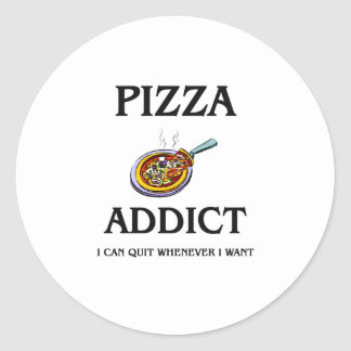 Adicto a la pizza pegatina