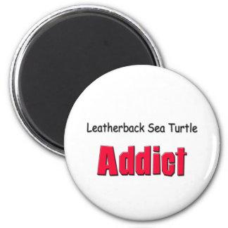 Adicto a la tortuga de mar del Leatherback Imán De Frigorífico