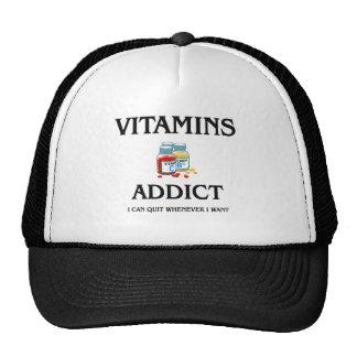 Adicto a las vitaminas gorras