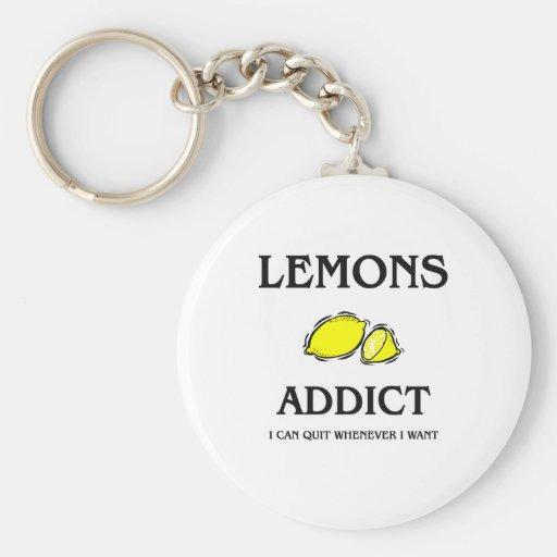 Adicto a los limones llavero