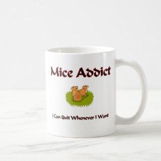 Adicto a los ratones taza de café