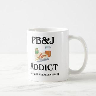 Adicto a Pb&J Taza