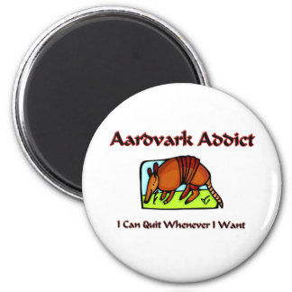 Adicto al Aardvark Imán De Frigorifico