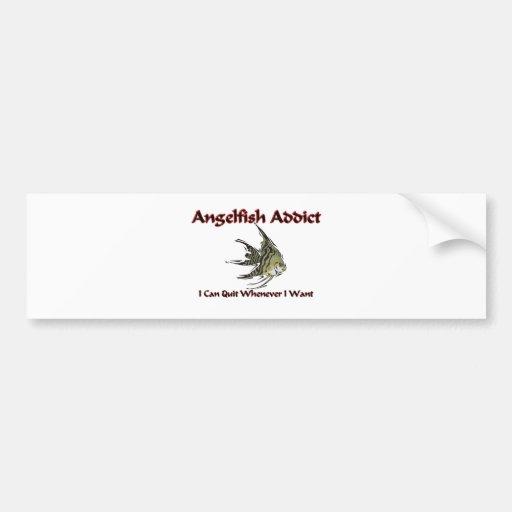 Adicto al Angelfish Etiqueta De Parachoque