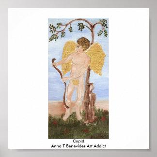 Adicto al arte de Ana T Benevides del Cupid Póster